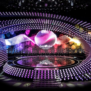 Podium Eurovisie Songfestival 2015